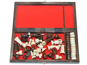 Шахматы + шашки, набор настольных игр (27х27см.), фото 3