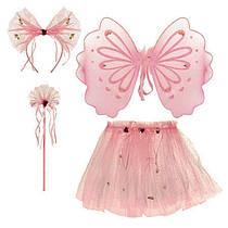 Костюм для девочки карнавальный Фея конфетка, юбка, крылья, палочка, обруч - ушки