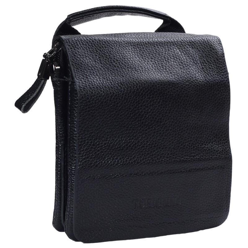 eea4b665ff3f Небольшая мужская кожаная сумка-барсетка черная Tofionno TF003011-11 ...