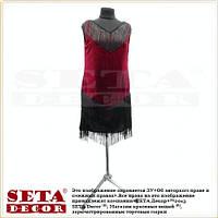 Платье с бахромой в ретро стиле 20-х годов карнавальное