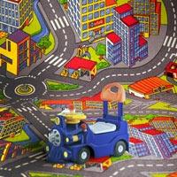 Ковер дорога в детскую комнату для мальчика Смарт Сити