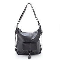 Женская сумка-рюкзак натуральная кожа 66012 brown