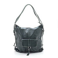 Женская сумка-рюкзак натуральная кожа 66012 green
