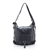 Женская сумка-рюкзак натуральная кожа  66012 black