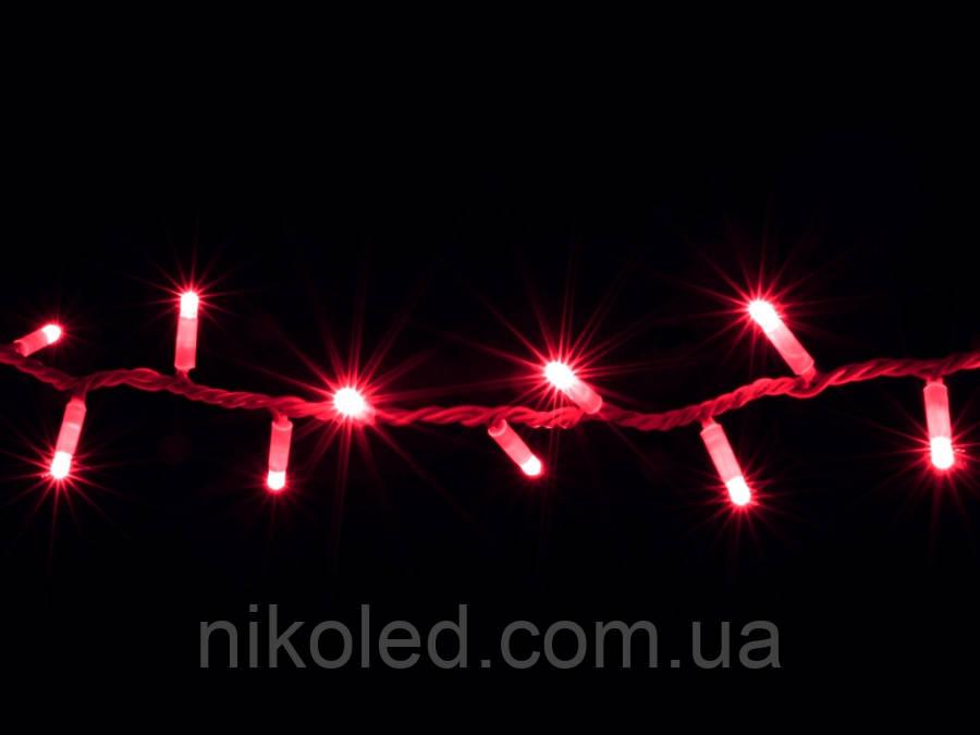 Гирлянда DELUX STRING 100LED/flash 10м внешняя Красный