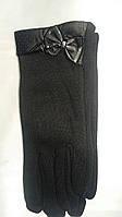 Черные перчатки с бантиком