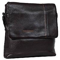 Мужская кожаная сумка с плечевым ремнем коричневая Tofionno TF00619-29921