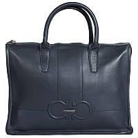 bf4b5abc045e Эксклюзивная мужская кожаная сумка для ноутбука и документов формата А4  синяя High Touch HT003402-11