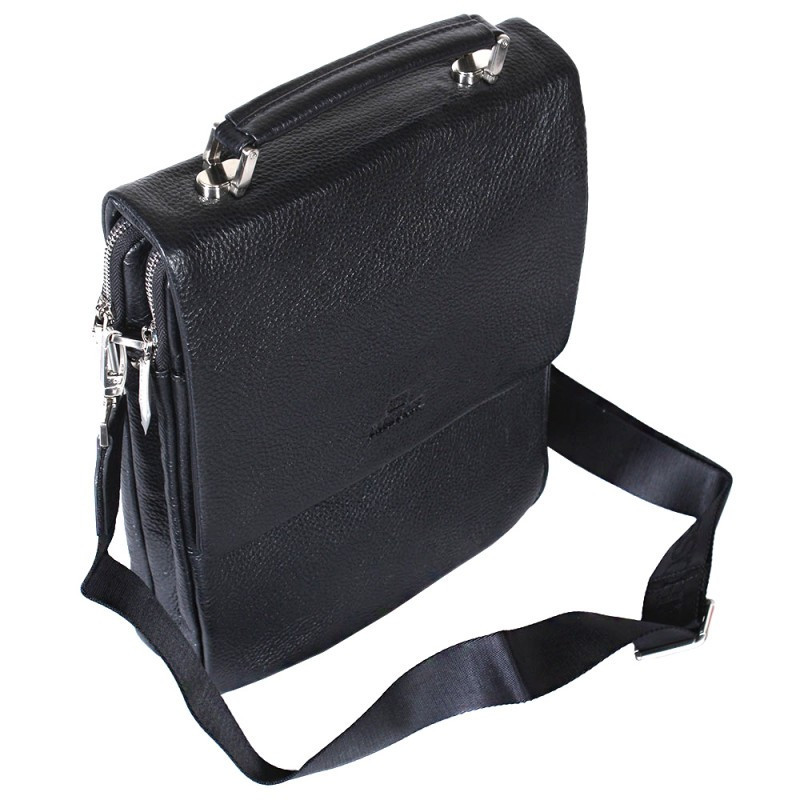 7c7be62a08ae Вертикальная мужская кожаная сумка под формат А4 черная Lare Boss  LB004704-81, цена 2 896 грн., купить в Киеве — Prom.ua (ID#613996023)