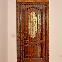 """Деревянные шторы на дверь """"Кольца"""", большое-меньше, светлые"""
