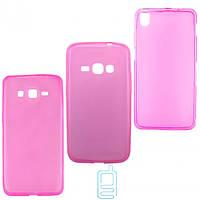 Чехол силиконовый цветной Nokia Lumia 435 розовый