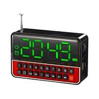 Портативна колонка MP3 годинник WS-1513 Black, фото 1