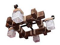 Люстра потолочная деревянная S7030/4