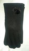 Женские черные перчатки с узором