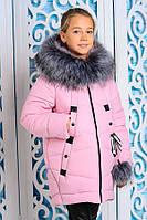 Куртка зимняя для девочки Матильда. Розовый. 122-146