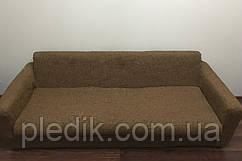 Чехол на диван натяжной 3-х местный Испания, Noemi Ante Ноэми коричневый