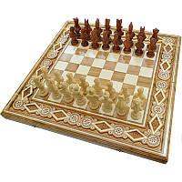 "Резные Шахматы + Нарды ""Египет"". 60х60 см. Бисер. Ручная работа"