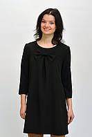 Красивое женское черное платье свободного кроя