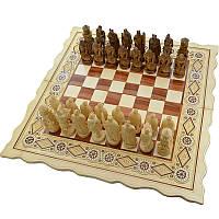 """Резные Шахматы + Нарды """" Рыцари """". 56х56 см. Бисер. Ручная работа"""