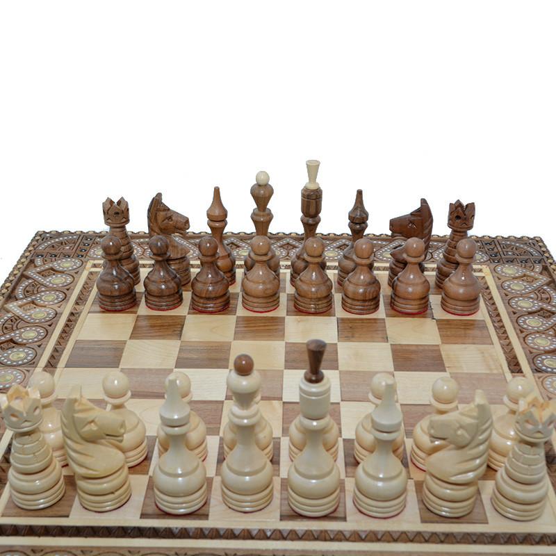 деревянные резные шахматные фигуры класические 4 ручная работа