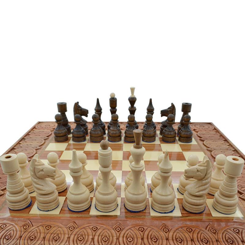деревянные резные шахматные фигуры класические 3 ручная работа