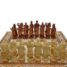 "Деревянные Шахматы + Нарды  ""Казаки"", 50х50 см. Инкрустация медью, фото 3"