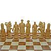 "Деревянные Шахматы + Нарды  ""Казаки"", 50х50 см. Инкрустация медью, фото 5"