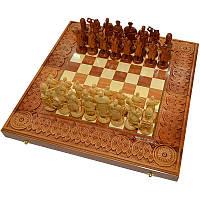 "Резные шахматы ручной работы ""Казаки"" 50х50. Нарды. Шашки"