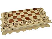 """Деревянные Шахматы + Нарды, """"Казаки"""" см. Инкрустация бисером, фото 2"""