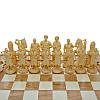 """Деревянные Шахматы + Нарды, """"Казаки"""" см. Инкрустация бисером, фото 4"""