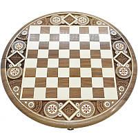 Шахматная доска. Круглая. Бисер
