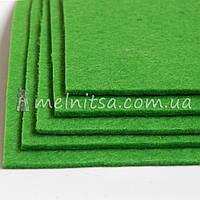 Фетр жесткий 3 мм, лист 25х25 см, зеленый (Китай)