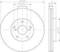 Оригинал диск тормозной передний TOYOTA CAMRY 40,50, ES350*