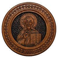 """Резная икона """"Христос Спаситель"""" 20 см"""