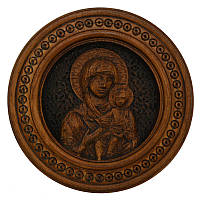 """Резная икона """"Божьей Матери с младенцем"""" 20 см"""
