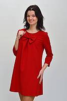 Красивое красное платье с бантом размер 34, 36, 38, 40, 42.