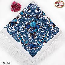 Павлопосадский шерстяной платок Мгновение, фото 3