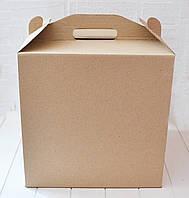 Коробка для торта 30х30х30 см. (крафт+рисунок), фото 1