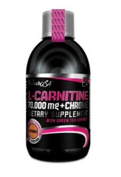 Карнитин L-Carnitine 70000+Chrome Liquid (500 мл) BioTech USA