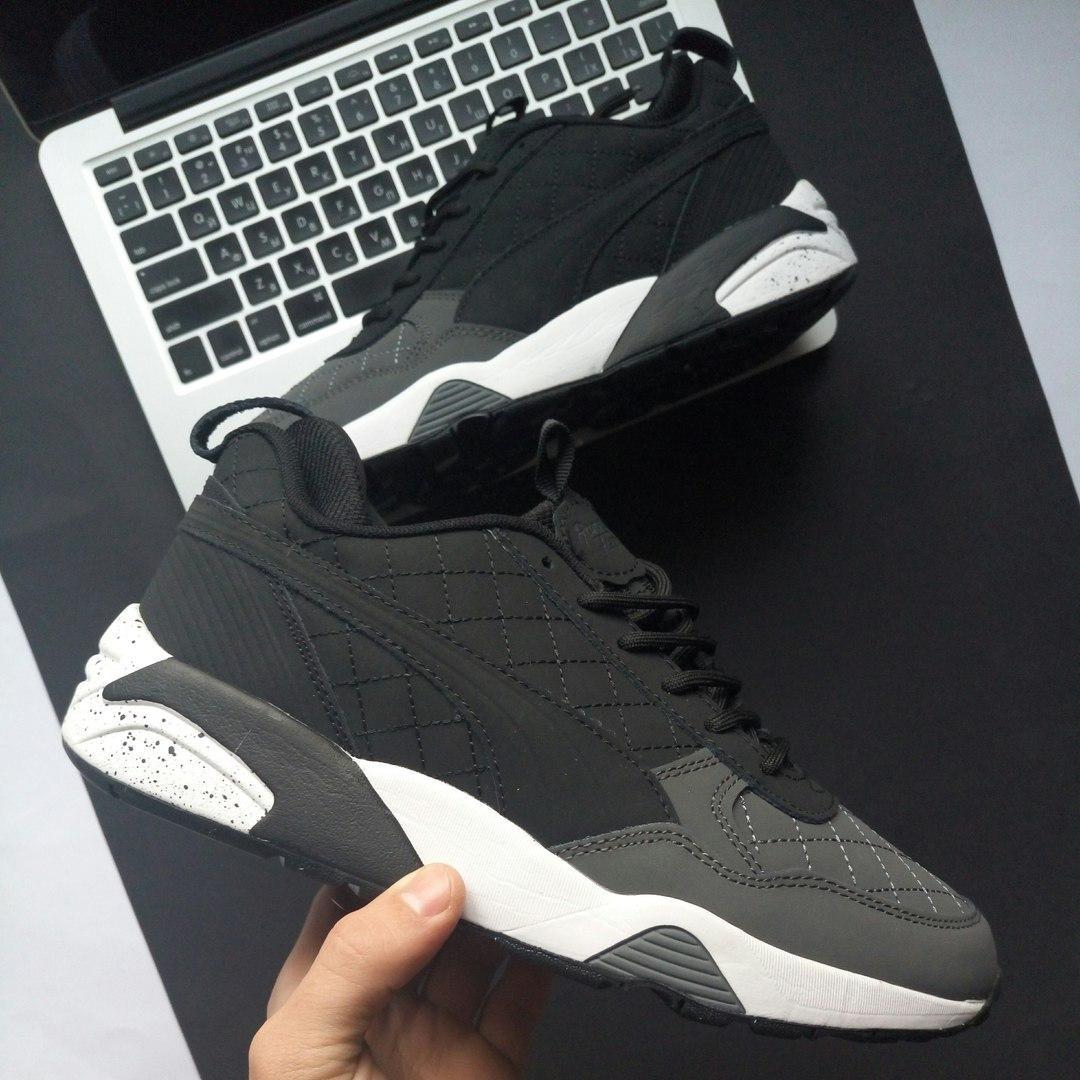 Зимние кроссовки Puma Blaze of Glory Winter Shoes black/grey. Живое фото! Топ качество! (Реплика ААА+)