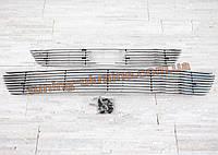 Решетка тюнингованая алюминиевая на Ford Focus MK2 2008-2011 отполирована до блеска
