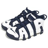 """Кроссовки баскетбольные Nike Air More Uptempo """"Olympic"""", материал - натуральная кожа"""