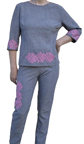 """Жіночий костюм з вишивкою """"Нейтіс"""" (Женскойкостюм с вышивкой """"Нейтис"""") KJ-0001"""