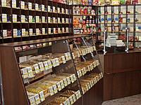 Тумбы и полки для супермаркета