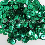Пайетки круглые 6 мм шестигранник, зеленые (5 гр), фото 2