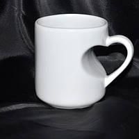 Чашка ручка серце