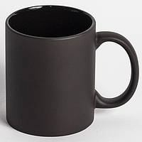 Чашка хамелеон полностью черная. Чашка магическа FULL BLACK матовая