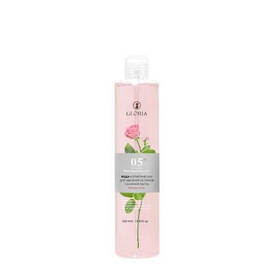 Вода косметическая для удаления остатков сахарной пасты «Нежная роза» (крышка)