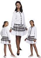 Юбка детская трикотажная м-1102  рост 116 122 128 134 140 146 152 и 158, фото 1