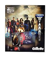 Набор Gillette Mach3 Turbo Justice League (станок+сменные кассеты 3 шт.+гарнитура виртуальной реальности)